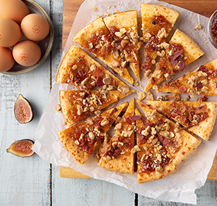 Sweet Fig Jam, Bacon and Toasted Walnut Skillet Bread