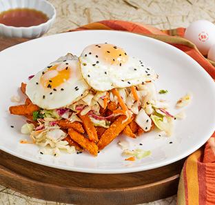 Korean Inspired Breakfast Fries