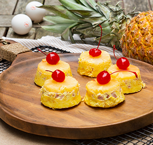 PINEAPPLE UPSIDE DOWN  OMELETTE CUPS