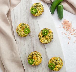 Jalapeno Popper Mini Frittatas