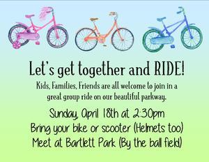 Bike party slide medium