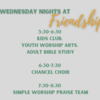 Wednesday Nights at Friendship
