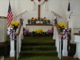 Front of sanctuary