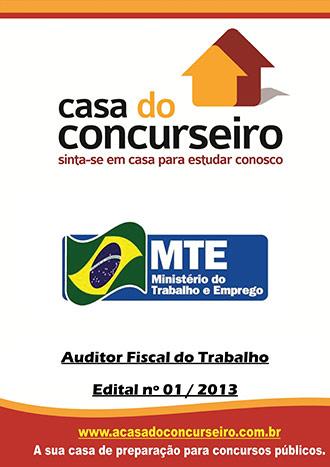 Apostila preparatória para concurso Ministério do Trabalho e Emprego - AFT Auditor Fiscal do Trabalho - Ministério do Trabalho e Emprego