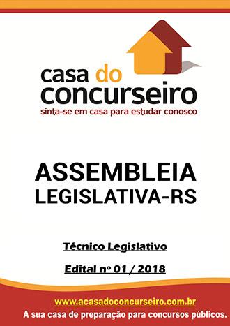 Apostila preparatória para concurso Assembleia Legislativa-RS - Técnico Legislativo