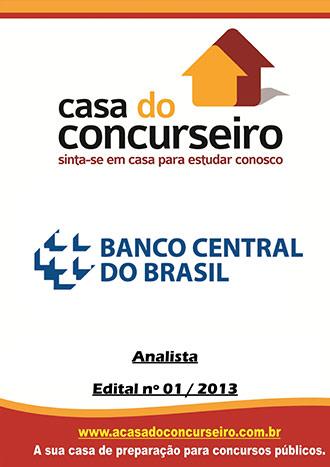 Apostila preparatória para concurso BACEN - Analista Banco Central do Brasil