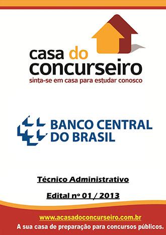 Apostila preparatória para concurso BACEN - Técnico Administrativo  Banco Central do Brasil
