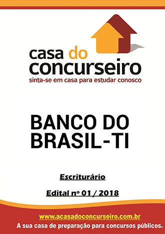 Apostila preparatória para concurso Banco do Brasil 2018