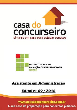 Apostila preparatória para concurso IF Baiano - Assistente em Administração - Pré edital
