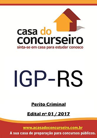 Apostila preparatória para concurso IGP-RS - Perito Criminal - Disciplinas Comuns para Todas as Áreas