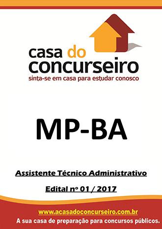 Apostila preparatória para concurso MP-BA - Assistente Técnico-Administrativo  Ministério Público do Estado da Bahia - Edital n° 01/2017