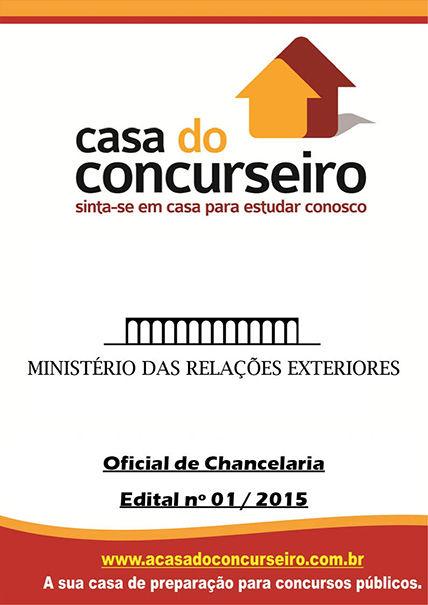 Apostila preparatória para concurso MRE – Edital n° 01/2015 Ministério das Relações Exteriores - Edital nº 01/2015