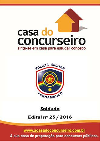 Apostila preparatória para concurso PM-PE - Soldado - 2016 Polícia Militar de Pernambuco - Edital publicado em 2016