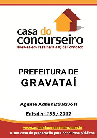 Apostila preparatória para concurso Prefeitura de Gravataí-RS - Agente Administrativo II - Pré edital