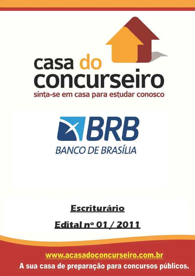 Apostila preparatória para concurso BRB Banco de Brasília