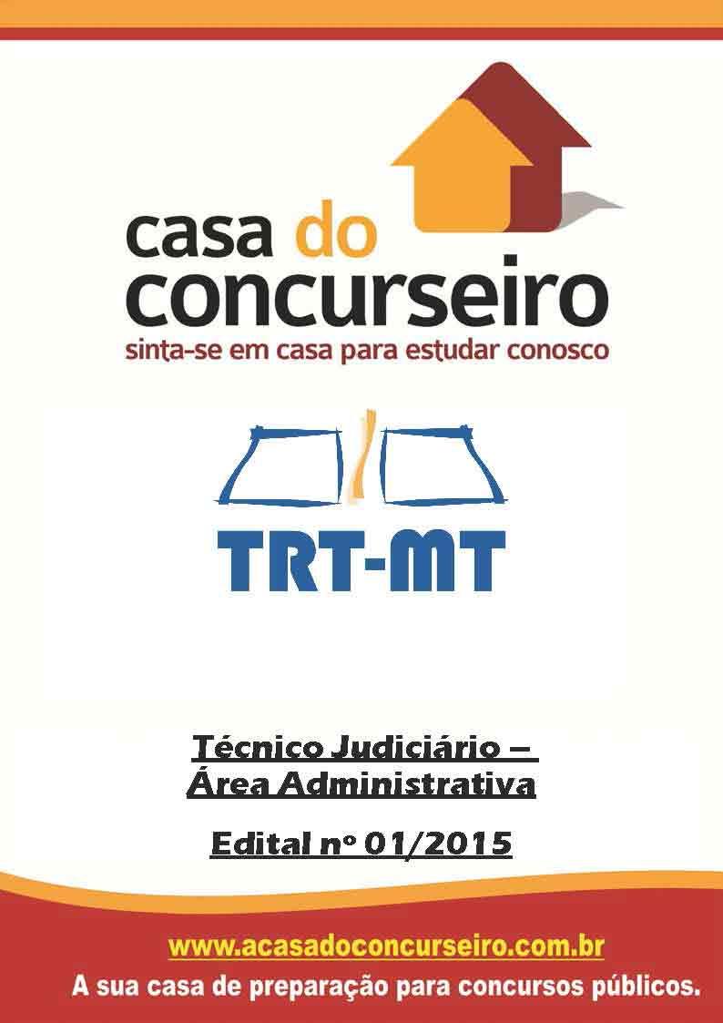Apostila preparatória para concurso TRT-MT Conforme Edital Tribunal Regional do Trabalho 23ª Região