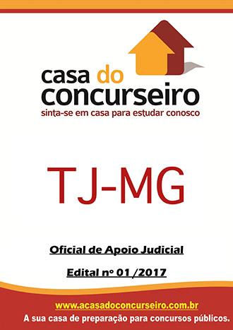 Apostila preparatória para concurso TJ-MG - Oficial de Apoio Judicial Tribunal de Justiça de Minas Gerais - Edital n° 1/2017