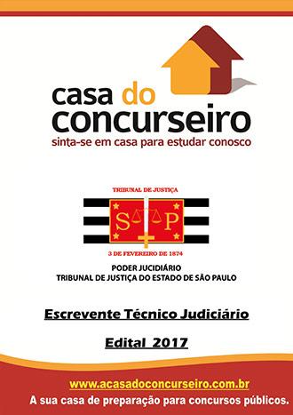 Apostila preparatória para concurso TJ-SP - Escrevente Técnico Judiciário Tribunal de Justiça de São Paulo - TJ-SP - Edital 2017