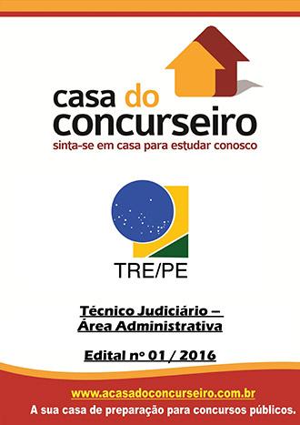Apostila preparatória para concurso TRE-PE - Técnico Judiciário - Área Administrativa Tribunal Regional Eleitoral de Pernambuco