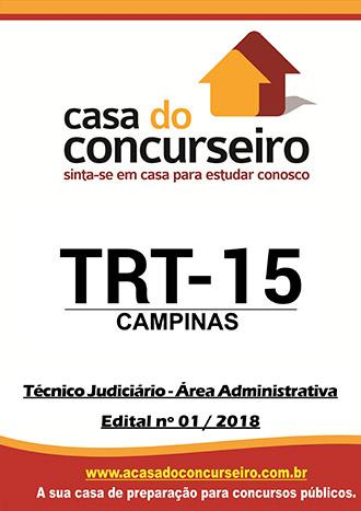 Apostila preparatória para concurso TRT Campinas - Técnico Judiciário - Área Administrativa