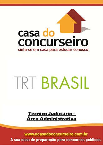 Apostila preparatória para concurso TRT Brasil Tribunal Regional do Trabalho