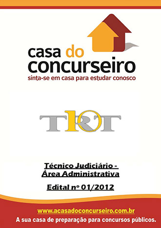 Apostila preparatória para concurso TRT-DF/TO Tribunal Regional do Trabalho - Distrito Federal e Tocantins