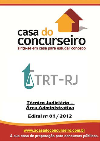 Apostila preparatória para concurso TRT-RJ Tribunal Regional do Trabalho da 1ª Região - Rio de Janeiro