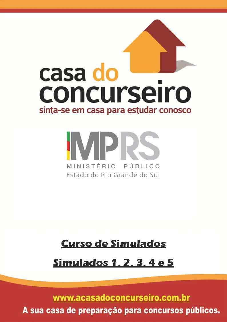 Apostila preparatória para concurso Simulados MP-RS - Agente Administrativo - 2016