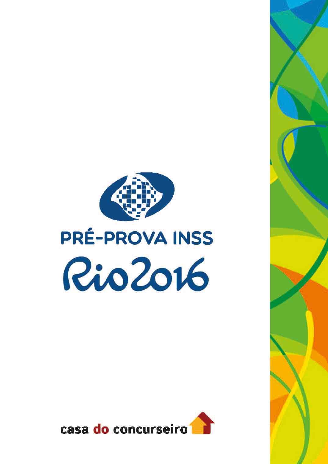 Apostila preparatória para concurso Pré-prova INSS 2016
