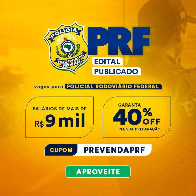 Edital publicado PRF