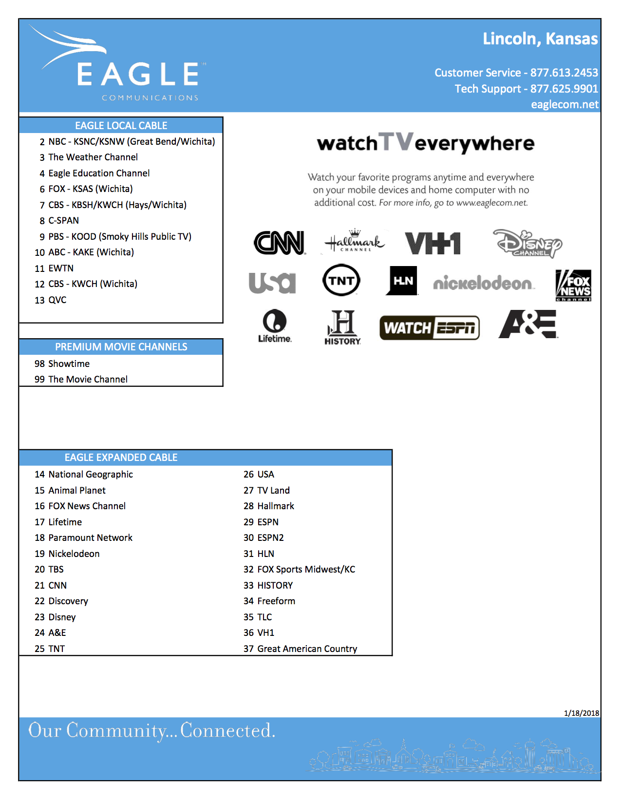 Lincoln Channel Guide