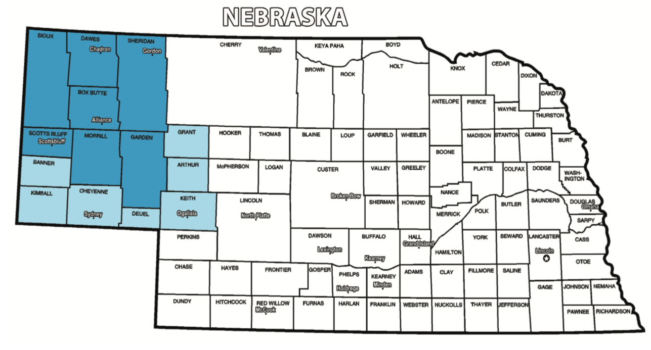 Alliance/Chadron Nebraska Radio Coverage Map