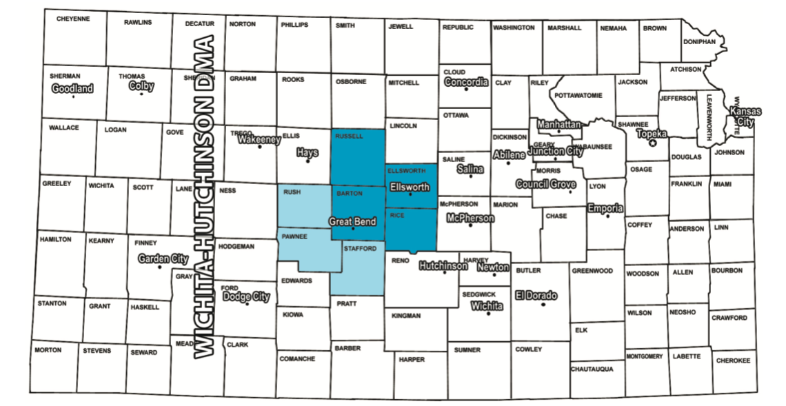Great Bend Kansas Radio Coverage Map