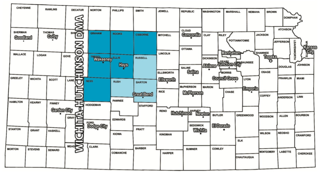 Hays Kansas Radio Coverage Map