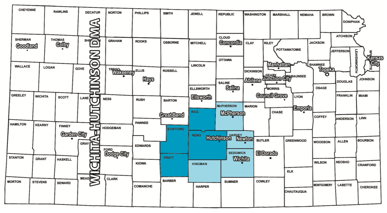 Hutchinson Kansas Radio Coverage Map