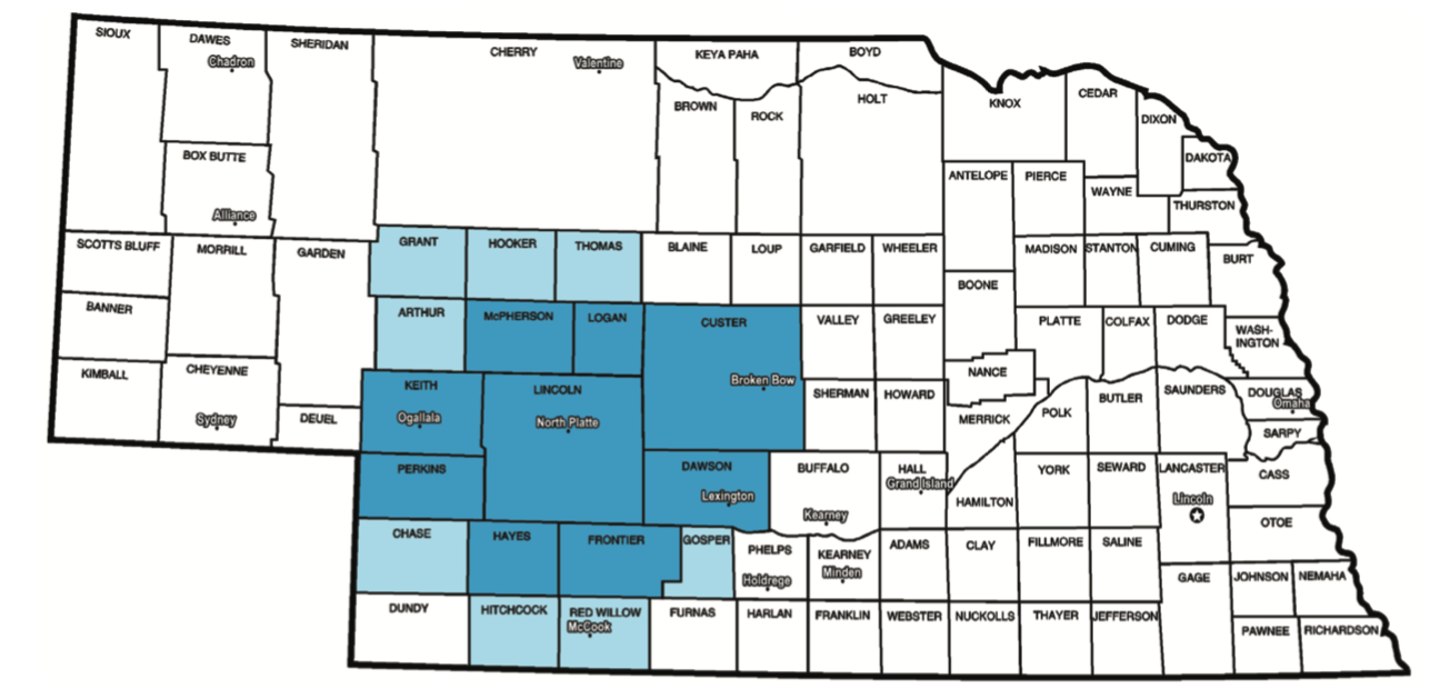North Platte Nebraska Radio Coverage Map