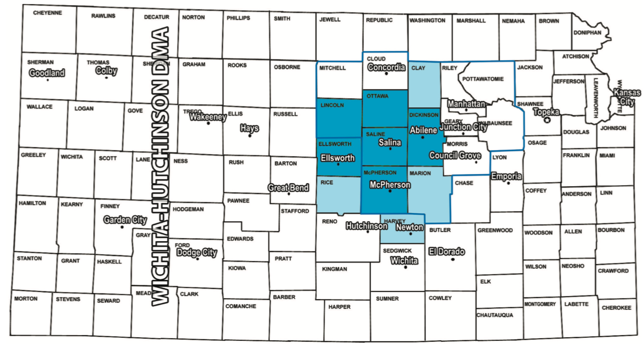 Salina Kansas Radio Coverage Map