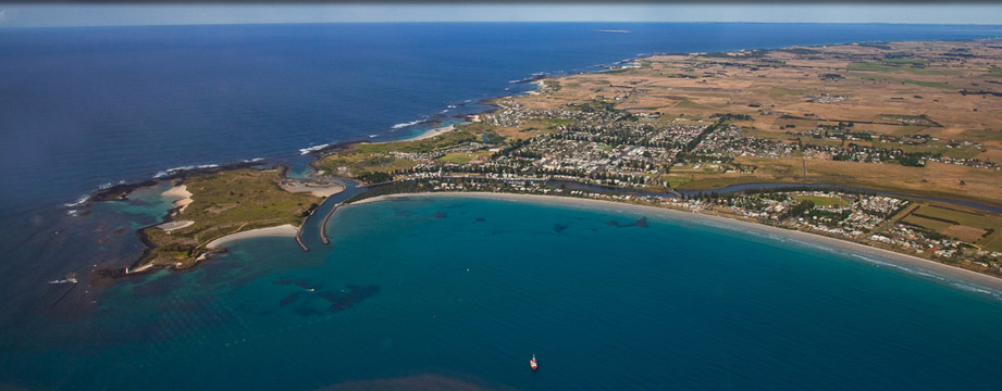 Port Fairy Aerial Shot