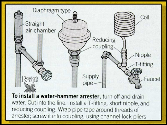 Plumbing noises and Water Hammer