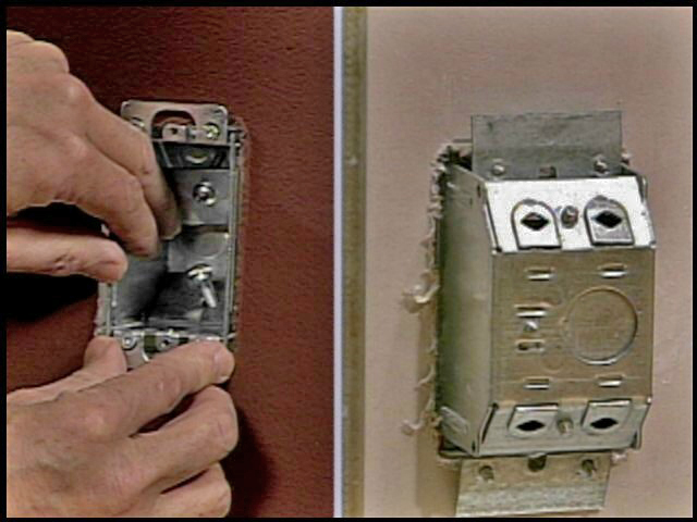 How to install an electrical box where there is no stud.