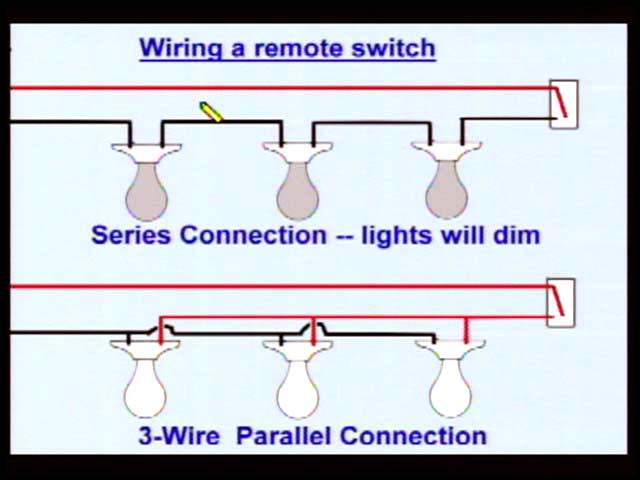 electrical wiring confusion dim lights rh joneakes com parallel wiring recessed lights parallel wiring for multiple lights