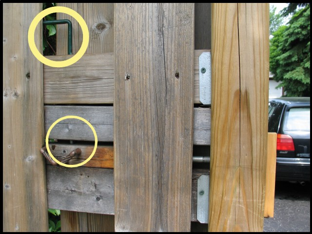 Homemade Lift Lever For Gate : A retracting latch for gate that swings toward the street