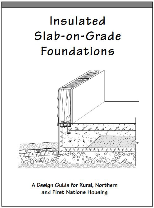 Frost protected shallow foundations and water pipes for Slab on grade house plans canada
