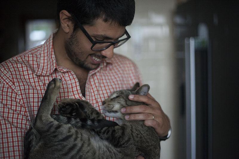 neighbour-cat-sammy-cuddling-thomas