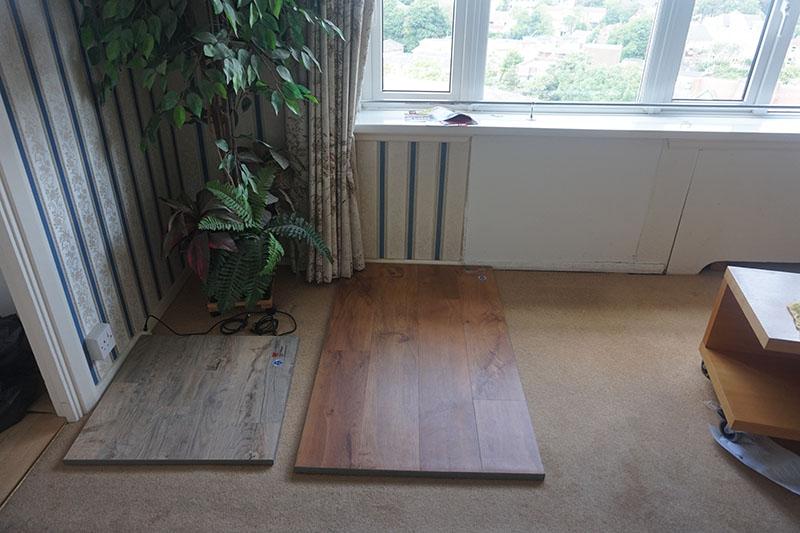 testing-flooring-samples-karndean-vinyl-floors