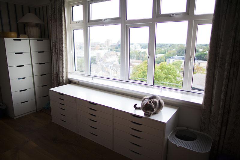 ikea-nordli-dressers-with-ikea-alex-units-window-seating-cat