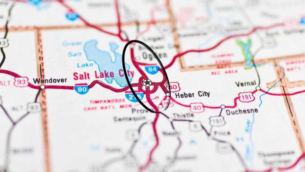 Salt Lake City, Utah and surrounding Wasatch Front