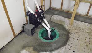 This is a sump pump in a basement