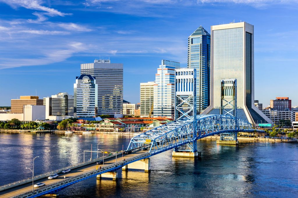 City skyline in Jacksonville, Florida