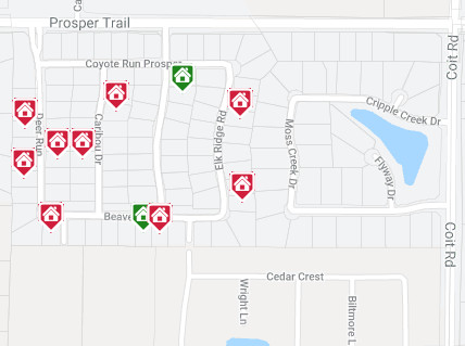 Deer Run Community Map